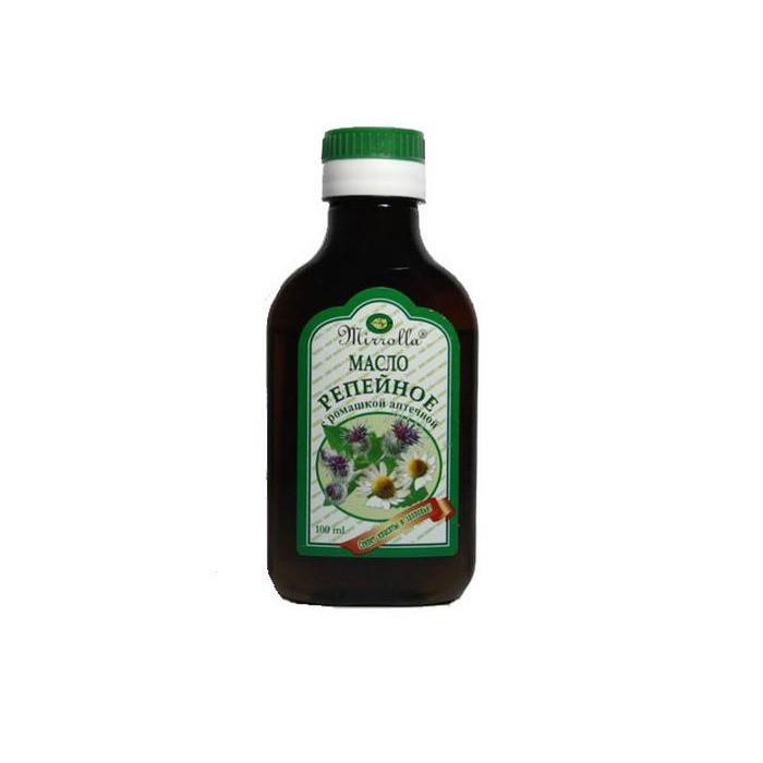 репейное масло ромашка 100мл Зеленый доктор ООО