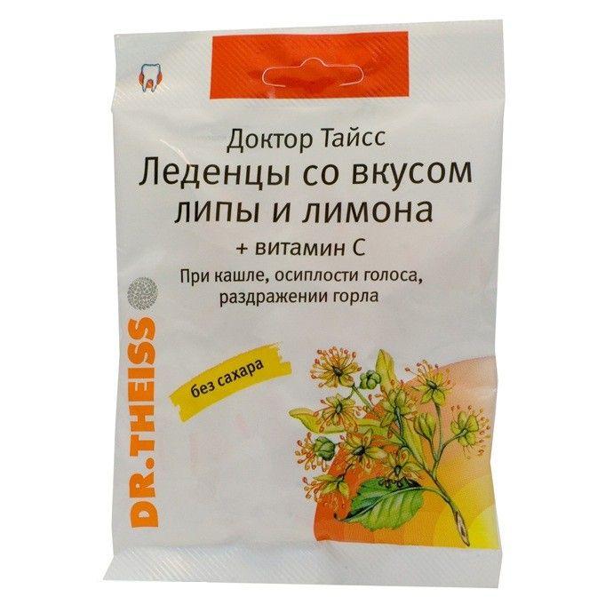 тайсс шалфей и лимон, мелисса с витамином с леденцы 50г Др.Тайсс Натурварен ГмбХ