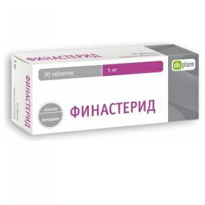 финастерид таблетки покрытые оболочкой 5мг n30 Оболенское фарм.предприятие