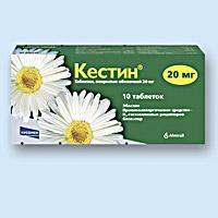 кестин таблетки покрытые оболочкой 20мг №10 Industrias Farmaceuticas Almiral