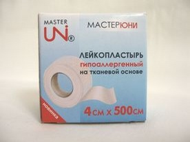 пластырь мастерюни 1х500см на неткан, основе в карт, кор, S.F.M. Hospital Products