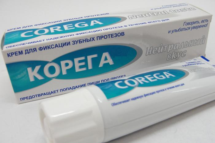 корега крем для фиксации зубных протезов нейтральный вкус 40мл Стаффорд Миллер/ для ГлаксоСмитК