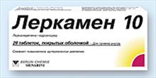 леркамен таблетки покрытые оболочкой 10мг №28 Berlin-Chemie AG/Menarini Group