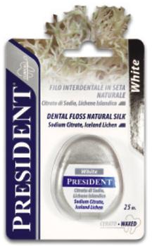 президент зубная нить 134 флосс с папаином отбеливающий 50м Spazzolificio PIAVE