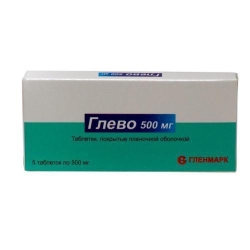 глево таблетки покрытые оболочкой 500мг №5 Glenmark Pharmaceuticals Ltd.