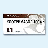 клотримазол таблетки ваг, 100мг №6 glaxowell GlaxoSmithKline Pharmaceuticals