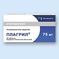 плагрил таблетки покрытые оболочкой, 75мг №30 Dr.Reddy`s Laboratories Ltd.