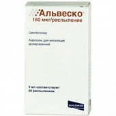 Альвеско аэроз для инг доз 160мкг/распыл 60доз 5мл 3m health care ltd фото