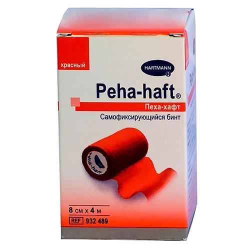 бинт peha-haft 4 м * 8 см красный самофиксирующийся Фирма Paul Hartmann AG
