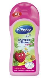 бюбхен кидс шампунь малина 230 мл для волос и тела Bubchen