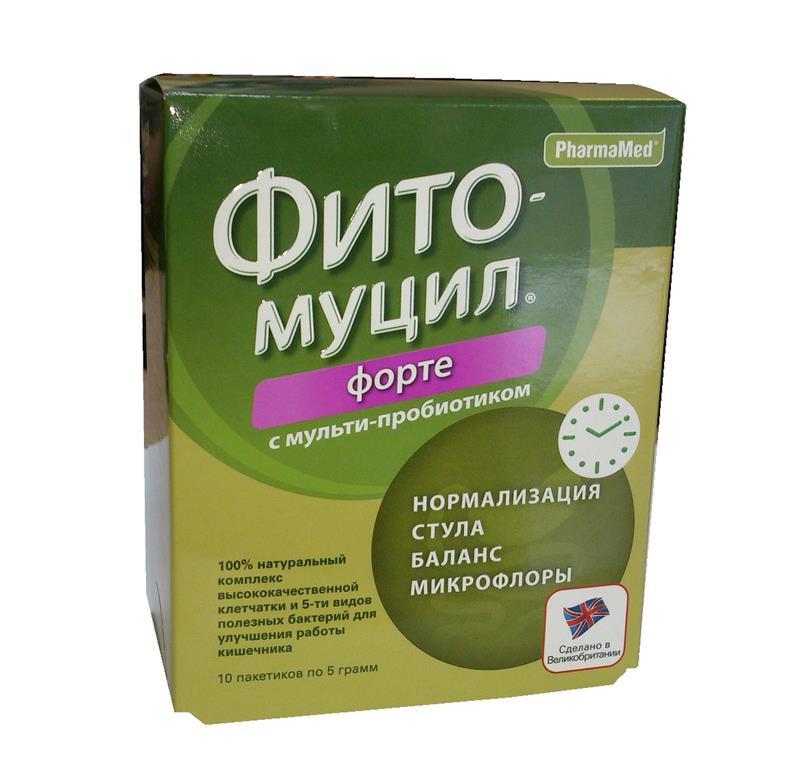 фитомуцил форте порошок №10 пакетиков Probiotics International Ltd/Фар