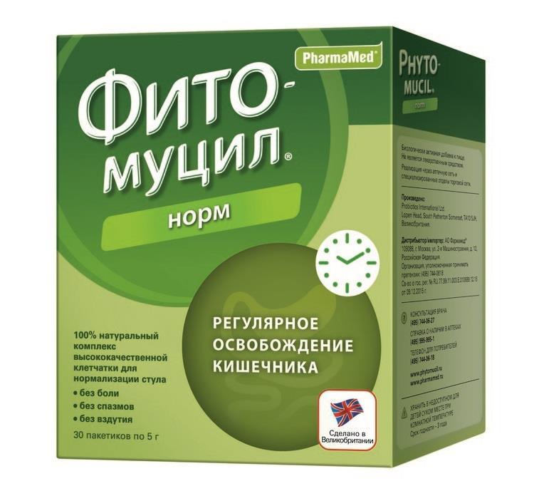 фитомуцил норм порошок №30 пакетиков Probiotics International Ltd.