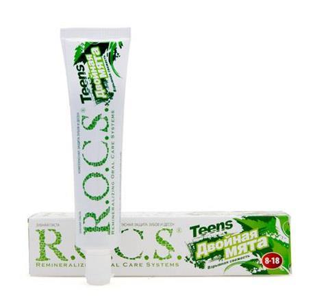 рокс зубная паста тинс двойная мята 74г 8-18 лет ООО ЕвроКосМед RU