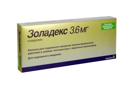 золадекс депо 3,6мг n1 капсула для подкожного введения АСТРА ЗЕНЕКА